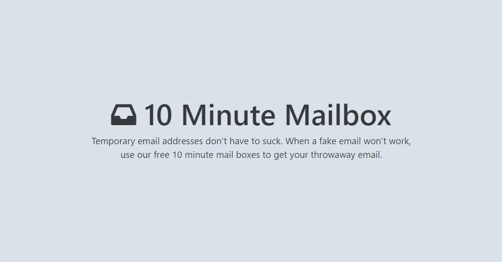 10 Minute Mailbox