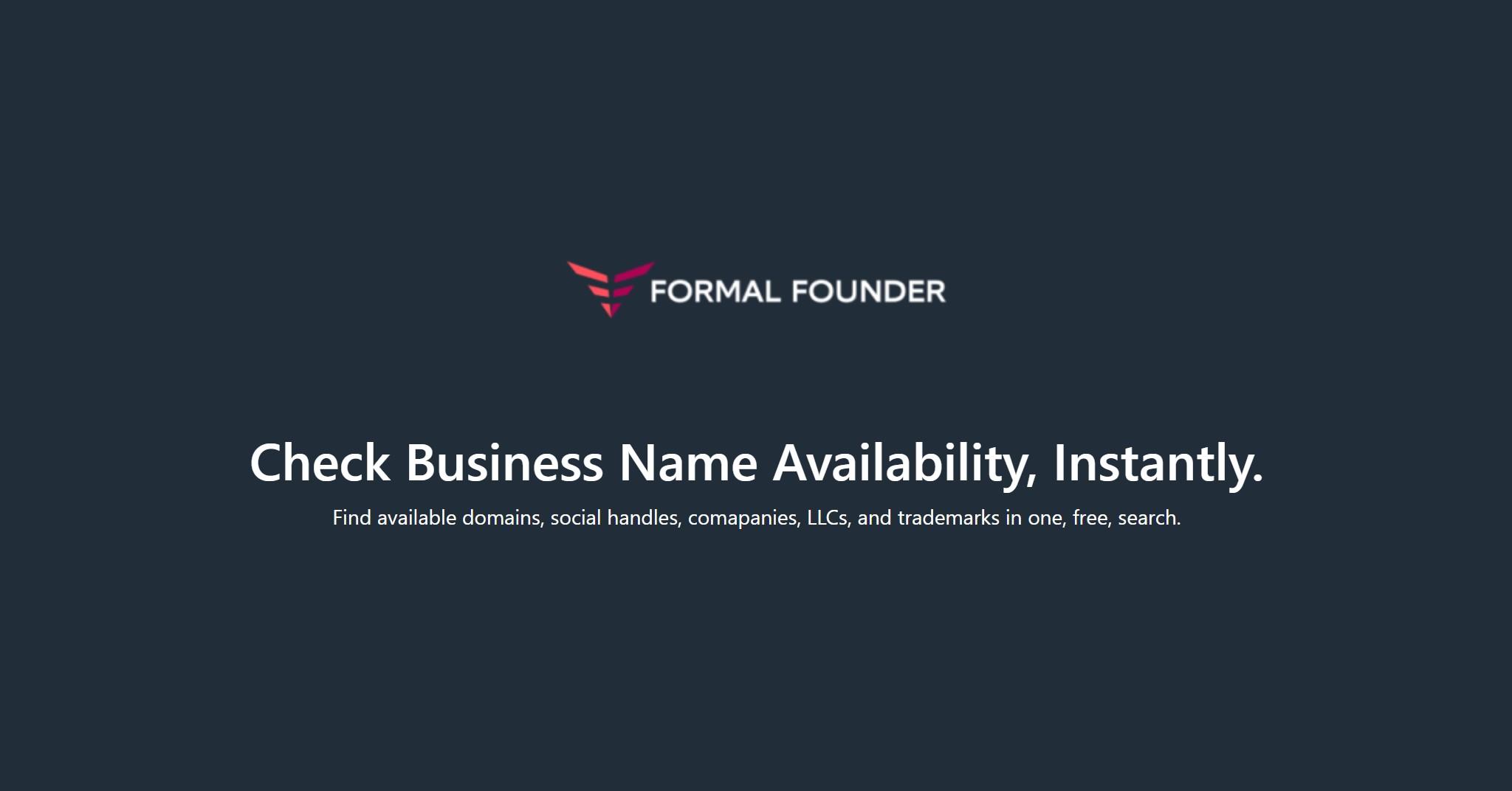 Formal Founder