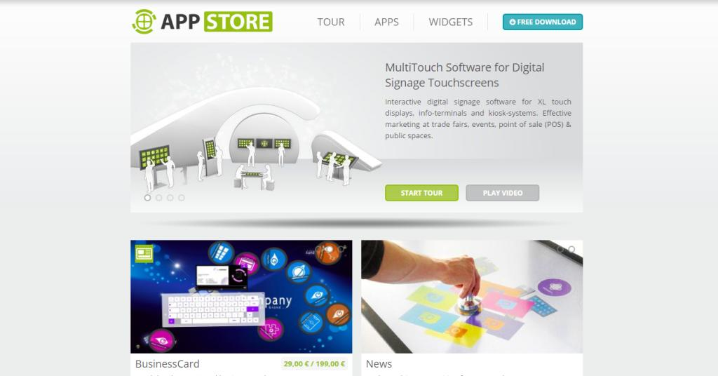 Multitouch Appstore