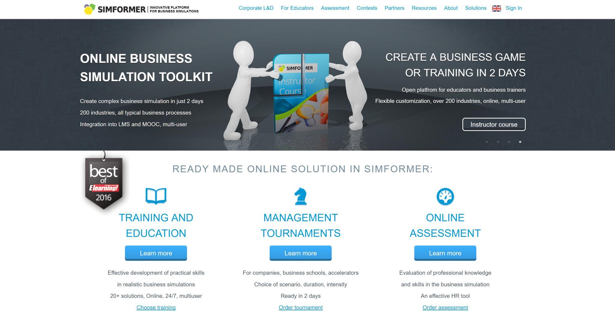 Simformer business simulations platform