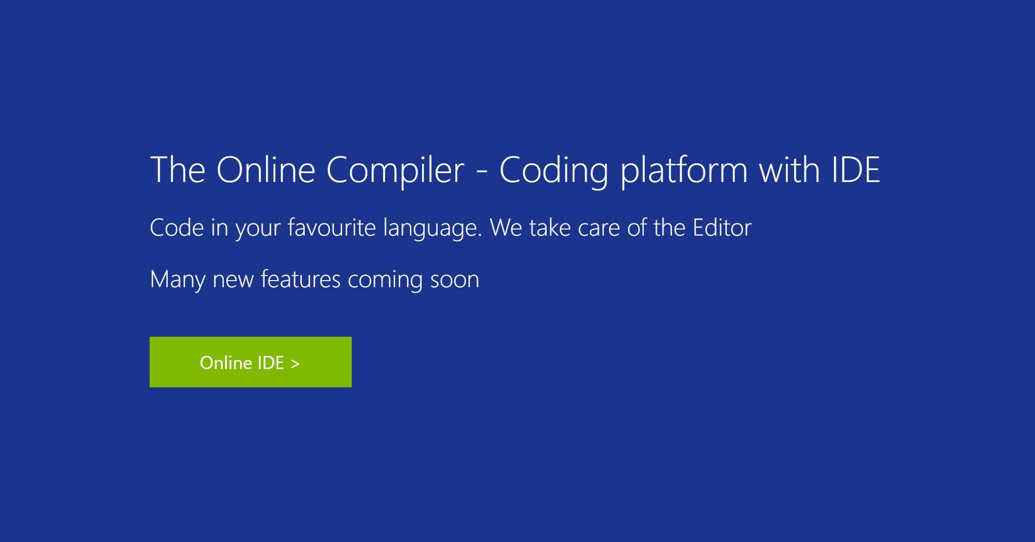 The Online Compiler