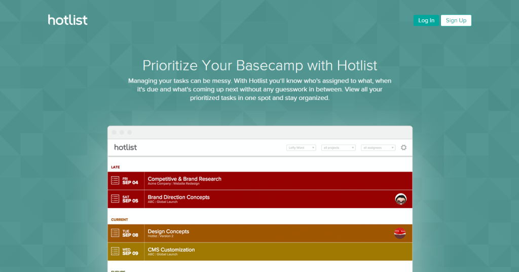 Hotlist for Basecamp